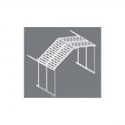 Palram Rozšiřovací modul 11x4,1 pro domky série Yukon 11 (antracit)
