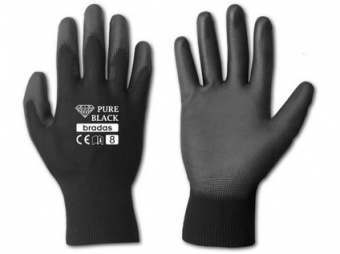 rukavice PURE BLACK PU 10