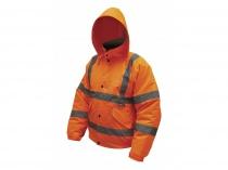 Reflexní zateplená bunda bomber oranžová