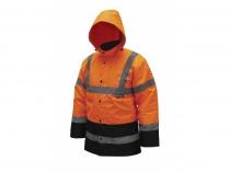 Reflexní zateplená bunda parka,velikost S,oranžová