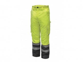 Reflexní zateplené kalhoty vel. S, žluté