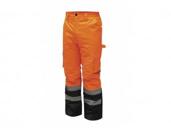 Reflexní zateplené kalhoty vel. S, oranžové