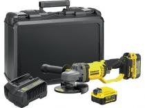 bruska úhlová Aku 125mm/18V Li-Ion, kufr, 2 baterie, V20, SFMCG400M2K-QW, STANLEY